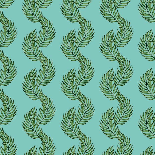 Padrão de palmas das folhas. padrão sem emenda tropical com folhas de palmeira. folhas exóticas. Vetor Premium
