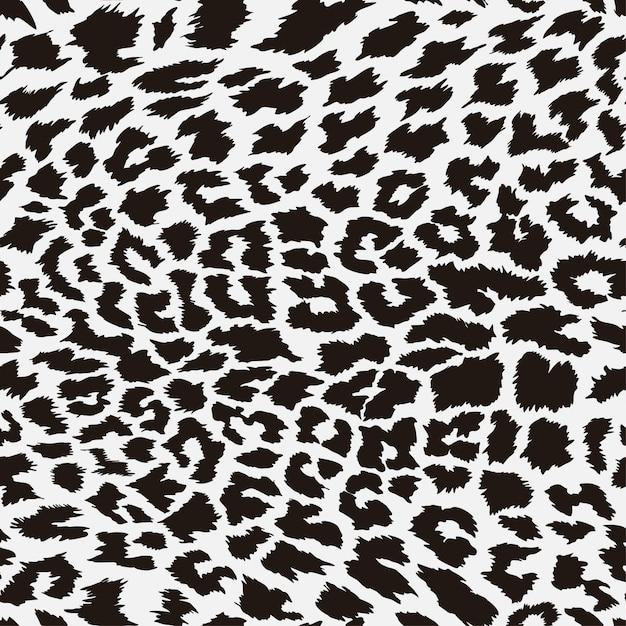 Padrão de pele de leopardo sem emenda Vetor Premium