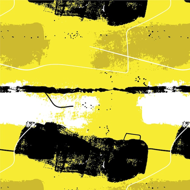 Padrão de pincelada abstrata Vetor grátis
