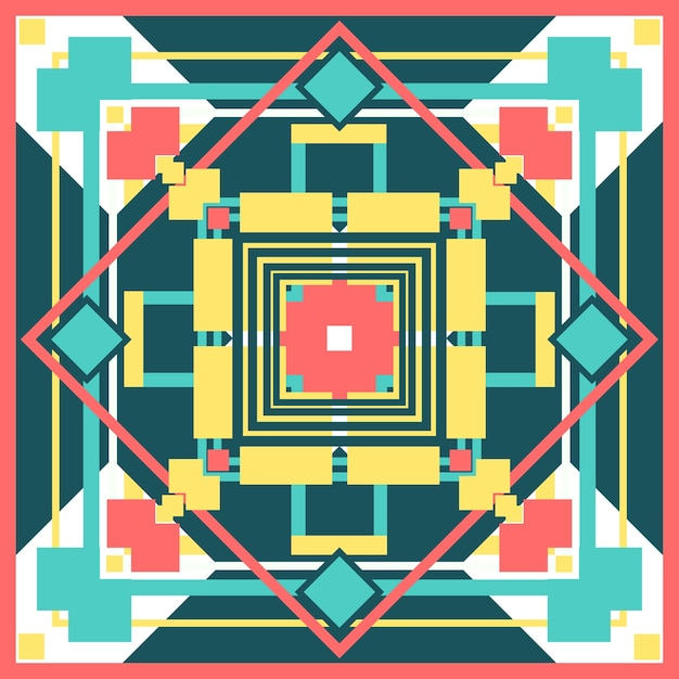 Padrão de quadrados colorfu Vetor Premium