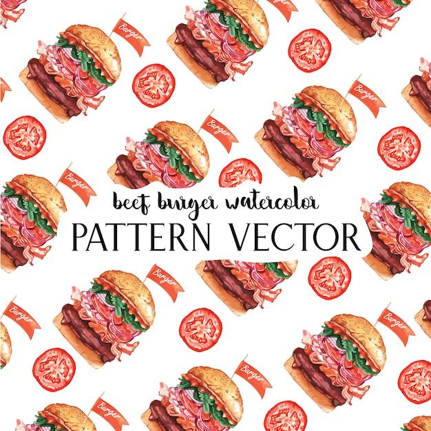 Padrão de restaurante fast food Vetor grátis