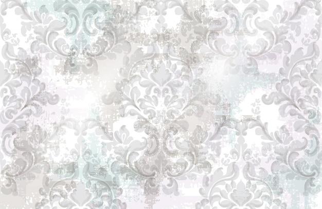 Padrão de textura barroca Vetor Premium