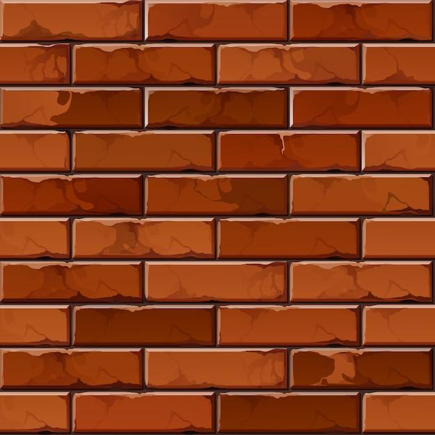 Padrão de textura de fundo de parede de tijolo Vetor Premium