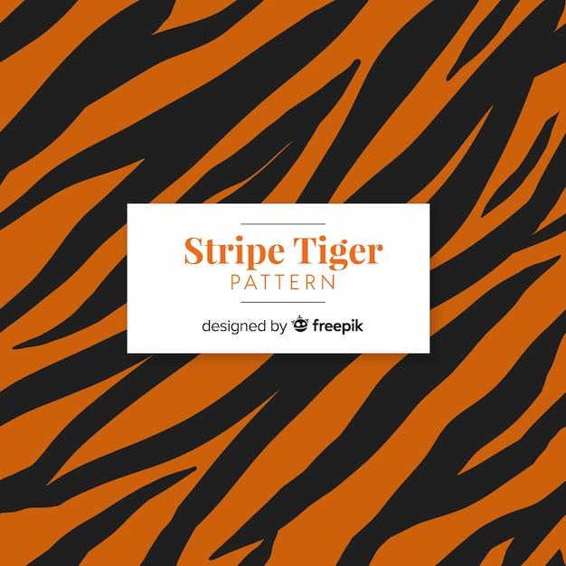 Padrão de tigre listra Vetor grátis