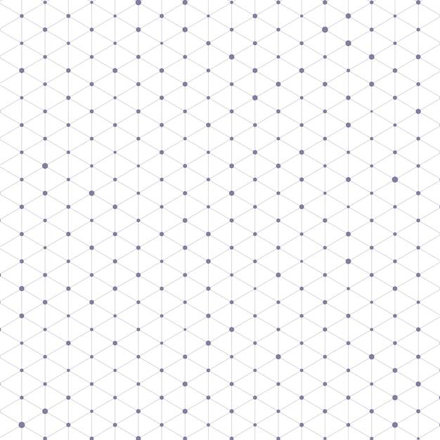 Padrão de triângulo com linhas e pontos de conexão Vetor grátis
