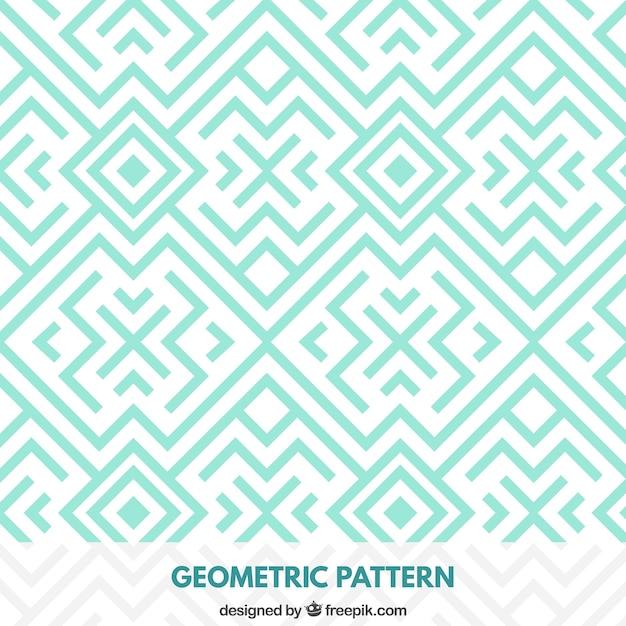 Padrão de turquesa geométrica Vetor grátis
