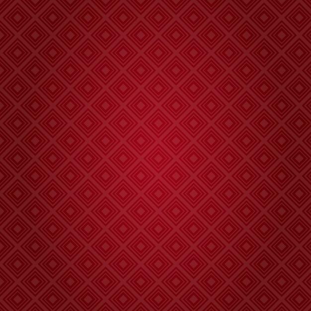 Padrão de vermelho abstrato fundo valentine day gift card holiday Vetor Premium