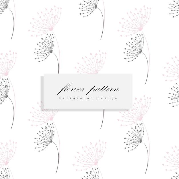 Padrão de vetor de buquê floral com flores e folhas Vetor grátis