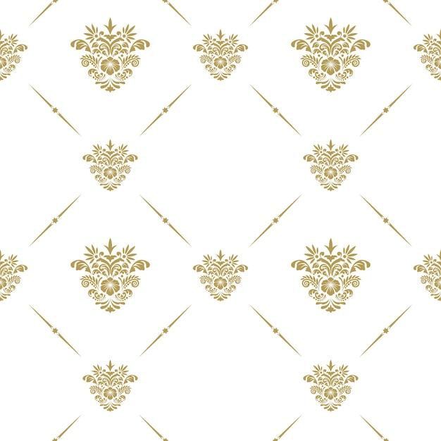 Padrão de vetor oriental com elementos florais arabescos Vetor grátis