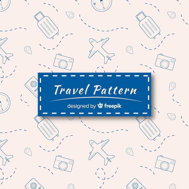 Padrão de viagem Vetor grátis