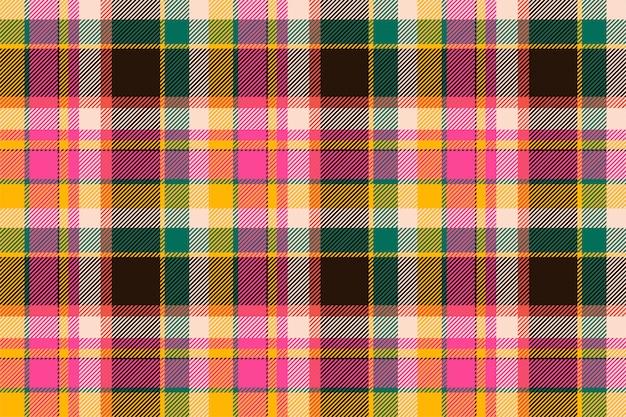 Padrão de xadrez sem costura tartan escócia. tecido de fundo retrô. textura geométrica quadrada de cor vintage cheque. Vetor Premium