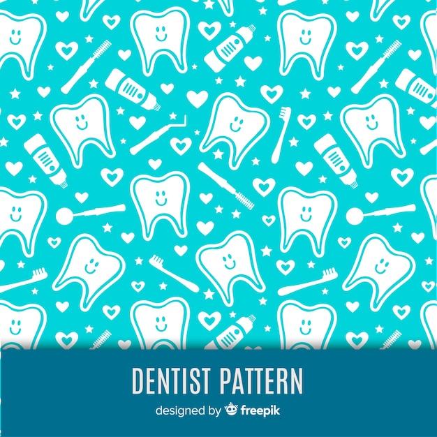 Padrão dental Vetor grátis