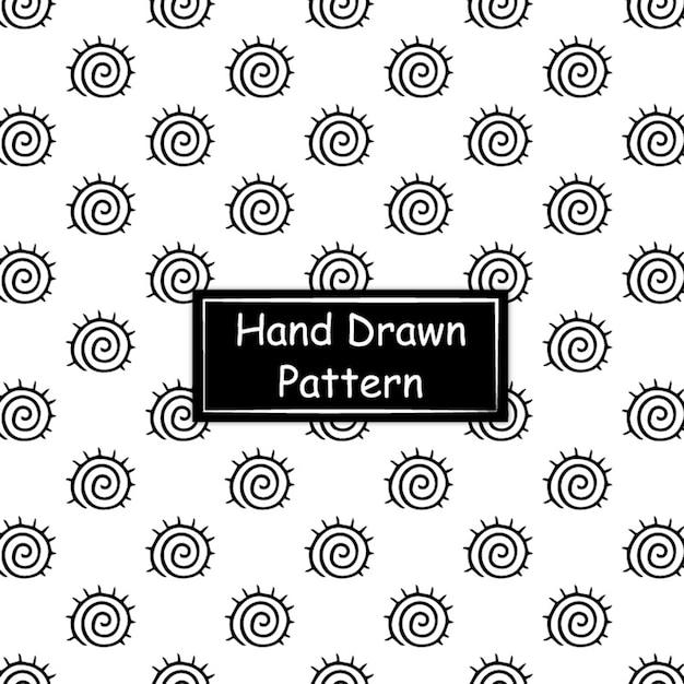 Padrão desenhado à mão em preto e branco Vetor grátis