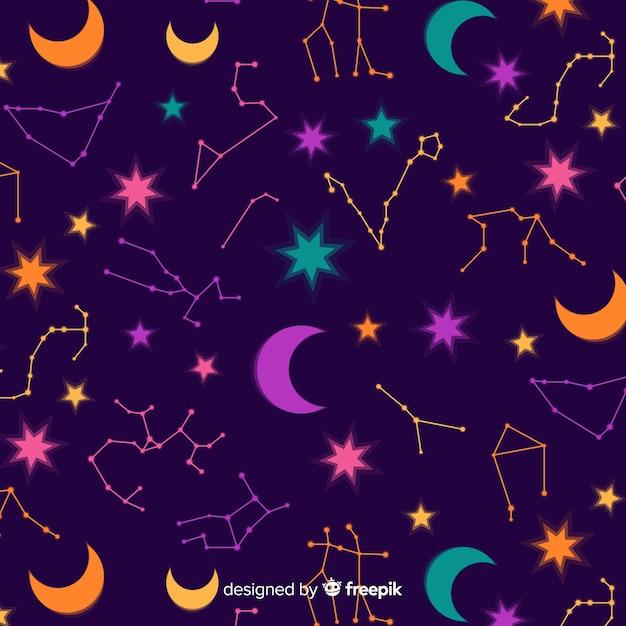 Padrão do zodíaco Vetor grátis