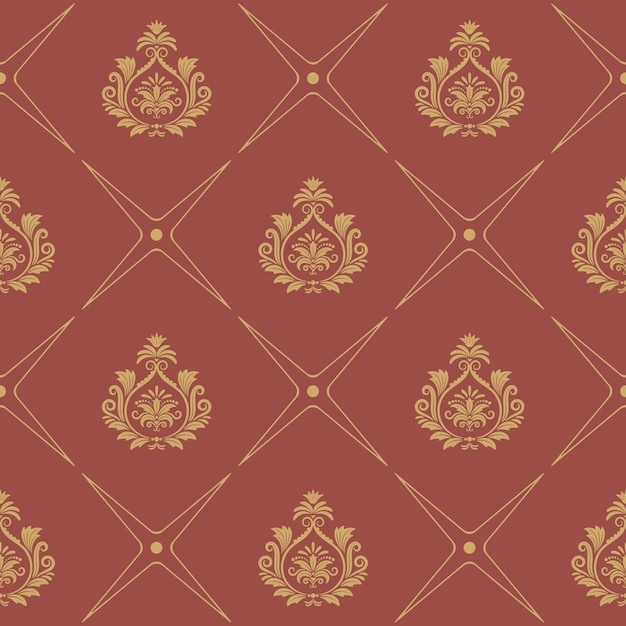 Padrão em estilo barroco. decoração de papel de parede de elegância Vetor grátis