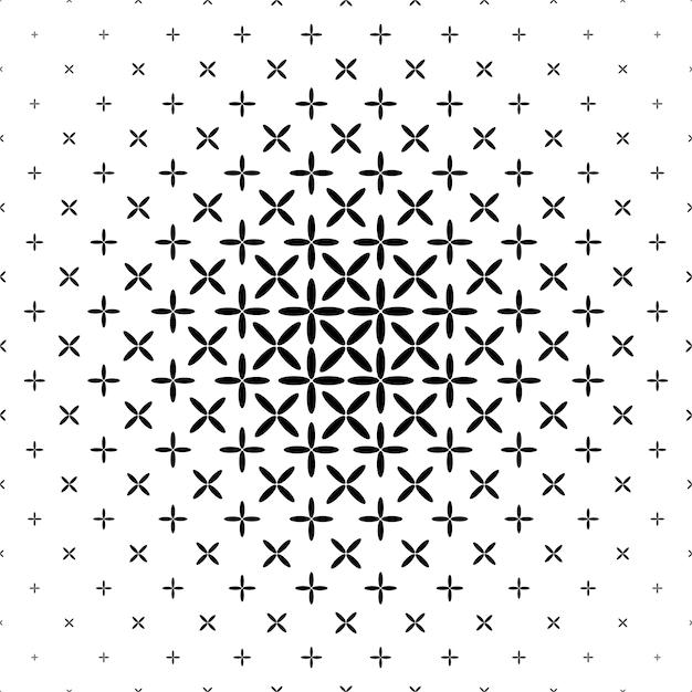 Padrão esqueleto monocromático - design geométrico de fundo abstrato Vetor grátis