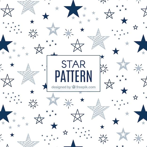 Padrão estelar branco e azul moderno Vetor grátis