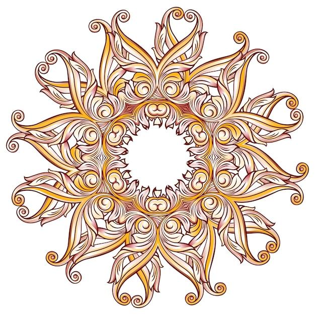 Padrão floral ornamentado em branco Vetor Premium