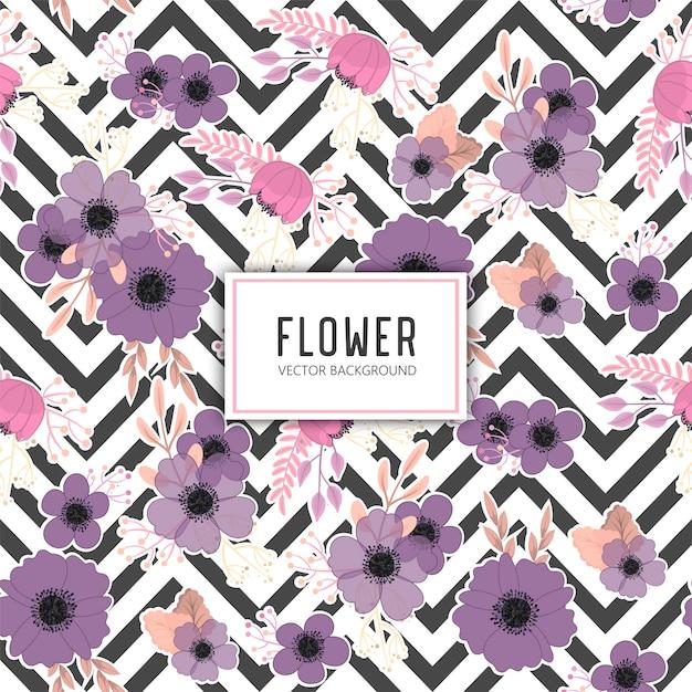 Padrão floral sem costura na moda Vetor grátis