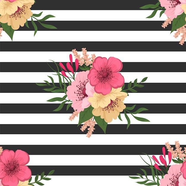 Padrão floral sem emenda na moda em vetor Vetor grátis