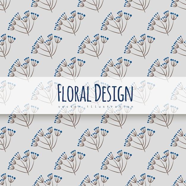Padrão floral sem emenda na moda Vetor grátis