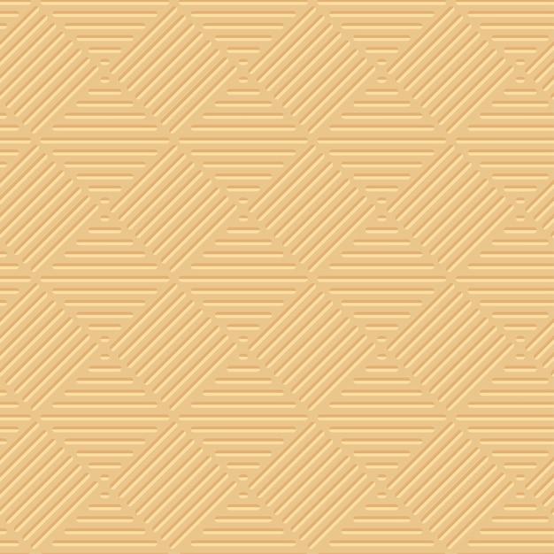 Padrão geométrico 3d de luz amarela pálida Vetor Premium