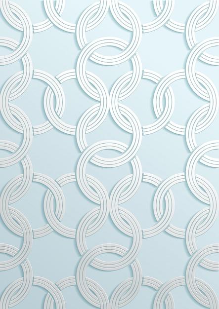 Padrão geométrico de arte de papel Vetor Premium