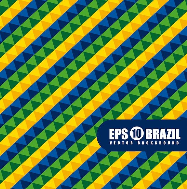 Padrão geométrico do brasil Vetor grátis