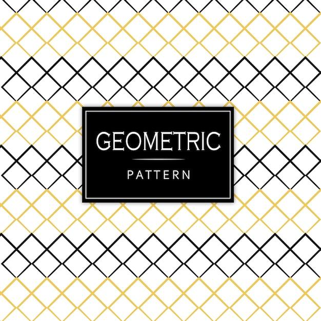 Padrão geométrico preto e dourado de memphis Vetor grátis