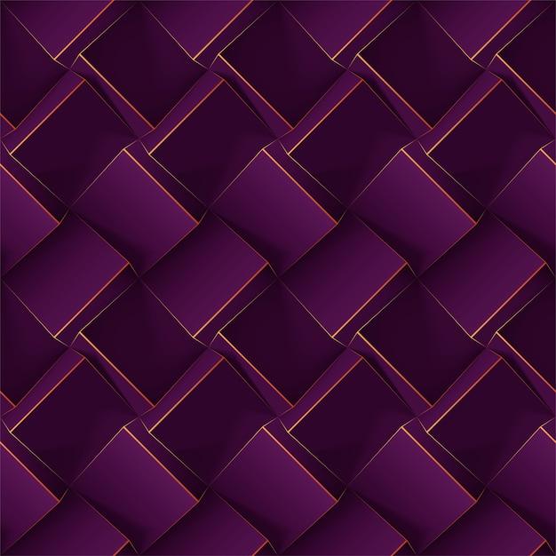 Padrão geométrico sem costura violeta escuro. Vetor Premium