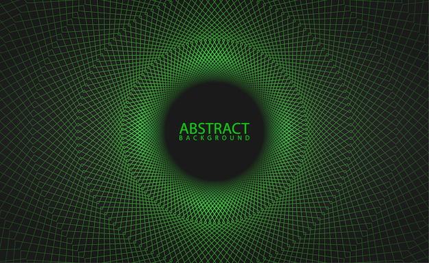Padrão geométrico verde com efeito brilhante Vetor Premium