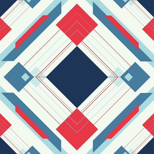 Padrão geométrico Vetor Premium