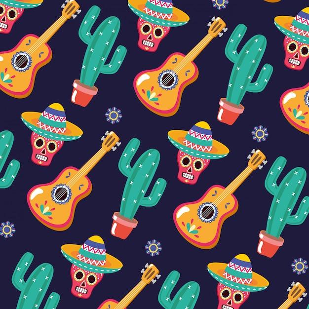 Padrão mexicano Vetor grátis
