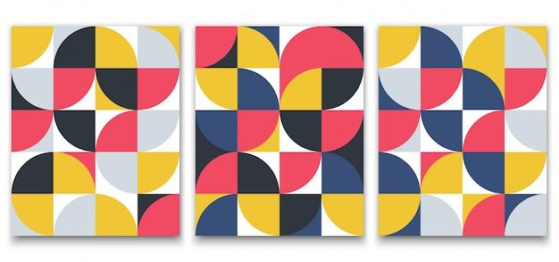 Padrão minimalista geométrico em estilo escandinavo para design de cartaz Vetor Premium