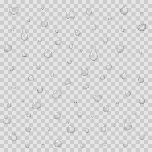 Padrão sem emenda com vetor isolado de gotas de chuva Vetor Premium
