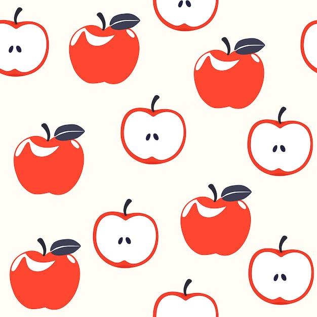 Padrão sem emenda de apple Vetor Premium