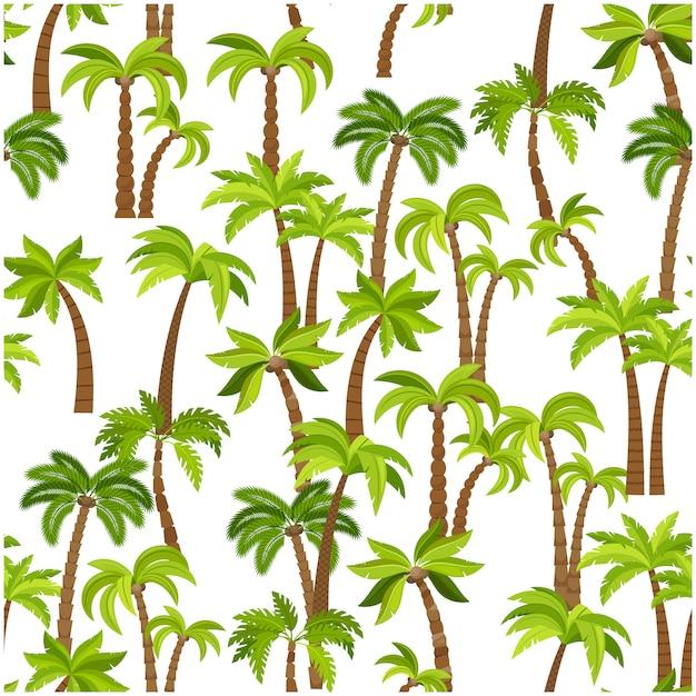 Padrão sem emenda de árvores de palma Vetor Premium