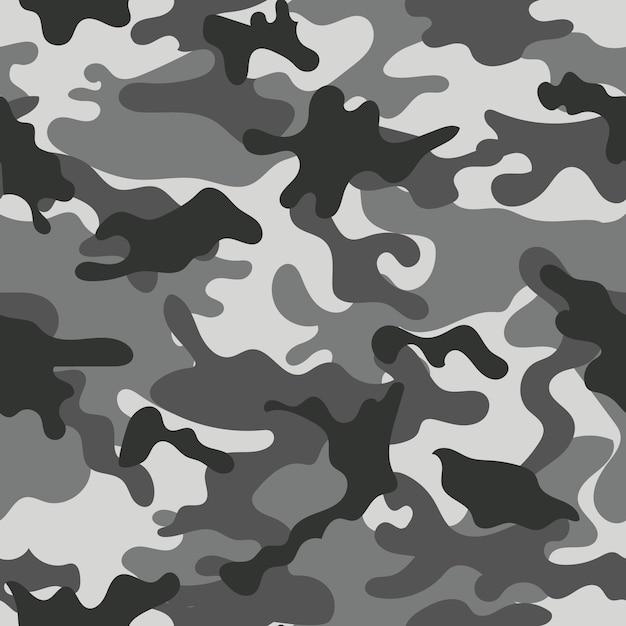 Padrão sem emenda de camuflagem. ilustração vetorial Vetor Premium