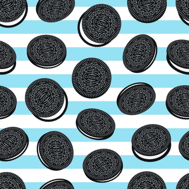 Padrão sem emenda de cookies Vetor Premium
