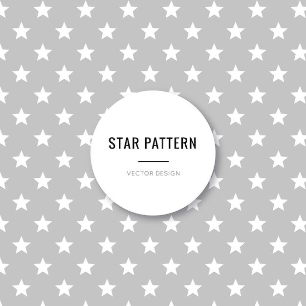 Padrão sem emenda de estrelas cinza bonito e bonito Vetor grátis