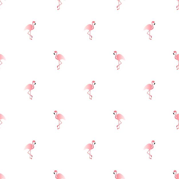 Padrão sem emenda de ilustração com flamingo rosa. Vetor Premium