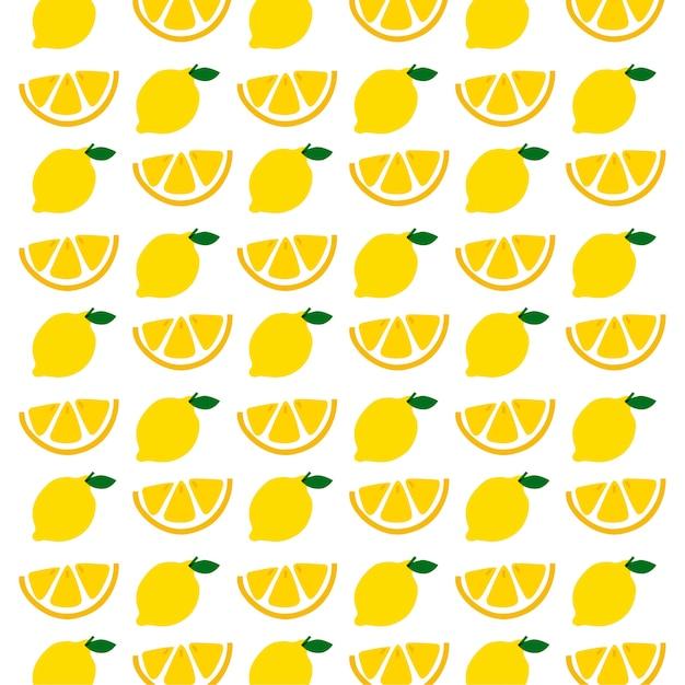 Padrão sem emenda de limão Vetor Premium