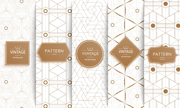 Padrão sem emenda de moda decorativa elegante. Vetor Premium