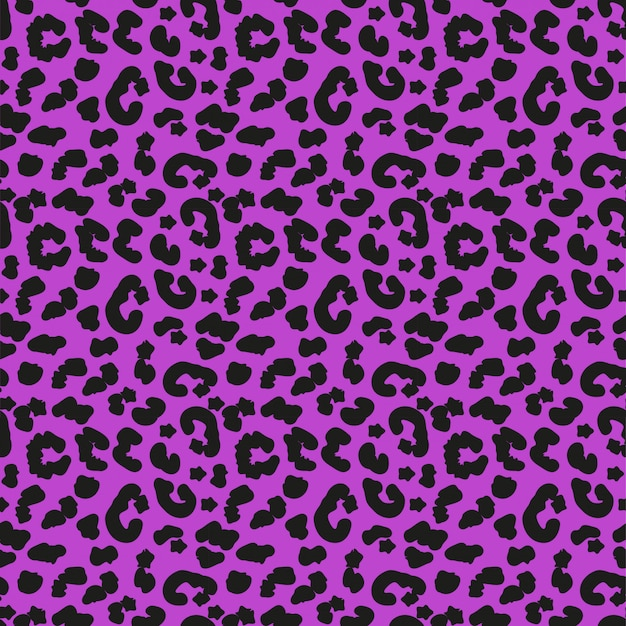 Padrão sem emenda de pele de leopardo. fundo infinito do conceito de animais africanos, repetindo a textura. ilustração. Vetor Premium