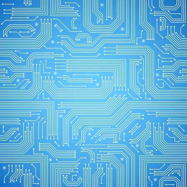 Padrão sem emenda de placa de circuito Vetor grátis