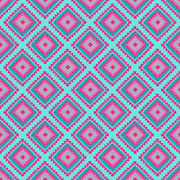 Padrão sem emenda étnica. impressão de linha tribal em estilo africano, mexicano, indiano Vetor Premium