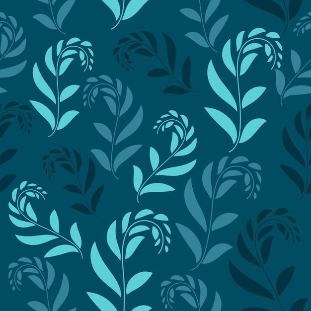 Padrão sem emenda floral. design padrão sem emenda de folhagem com cor pastel. padrão de folhas tropicais Vetor Premium
