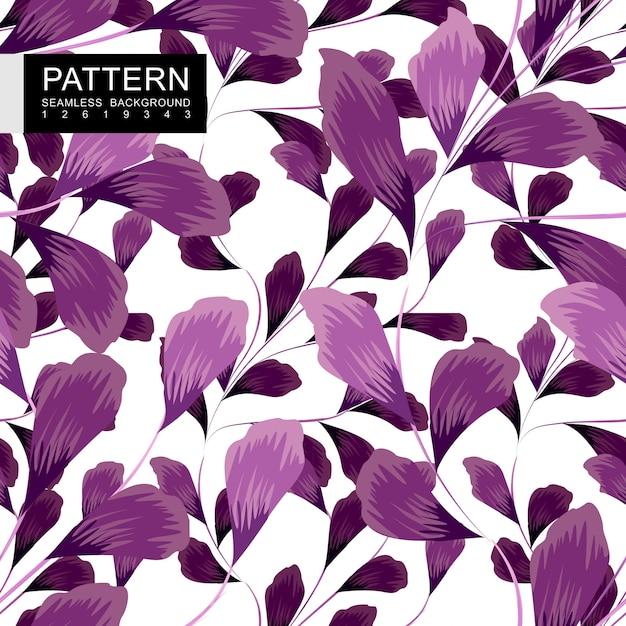 Padrão sem emenda floral roxo Vetor Premium