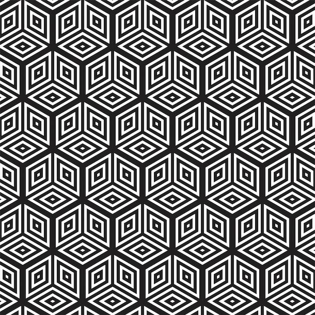 Padrão sem emenda geométrico abstrato moderno Vetor grátis