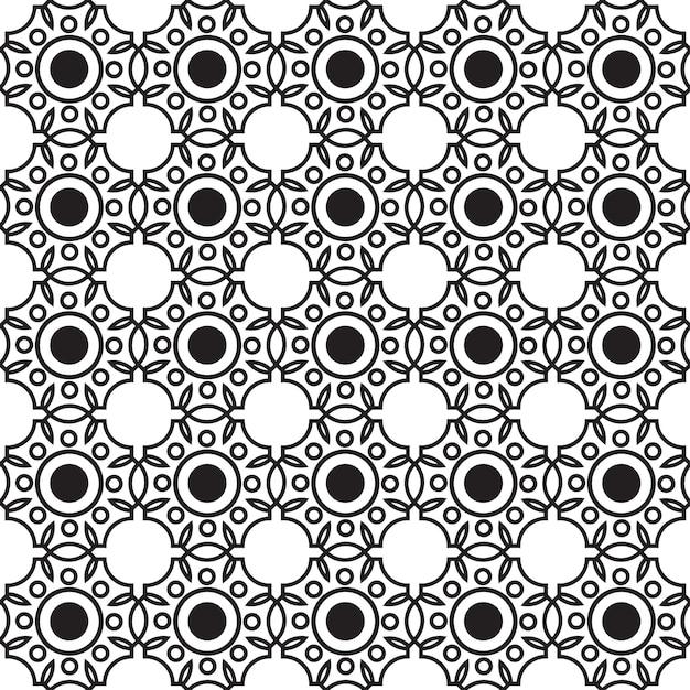Padrão sem emenda monocromático abstrato com estrutura geométrica repetitiva conectada em ilustração de estilo minimalista Vetor grátis